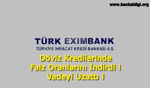 Türk Eximbank faiz oranlarını indirdi