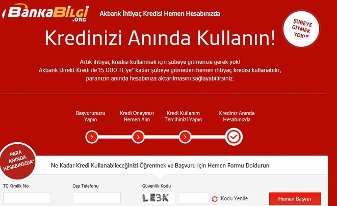 akbank bireysel kredi basvurusu www.bankabilgi.org