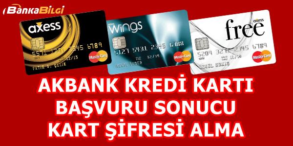 Akbank Kredi Kartı Başvuru Sonucu Öğrenme
