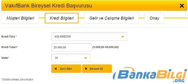 vakıfbank kış kredisi www.bankabilgi org
