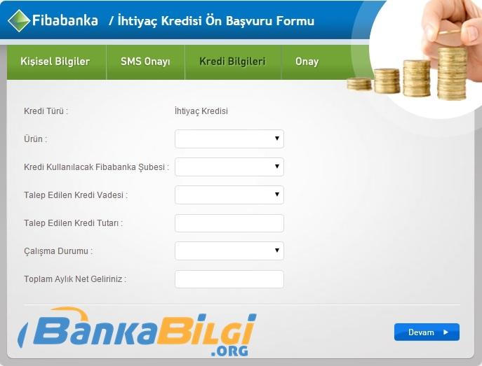 Fibabanka Kefilsiz İhtiyaç Kredsi Başvurusu www.bankabilgi.org