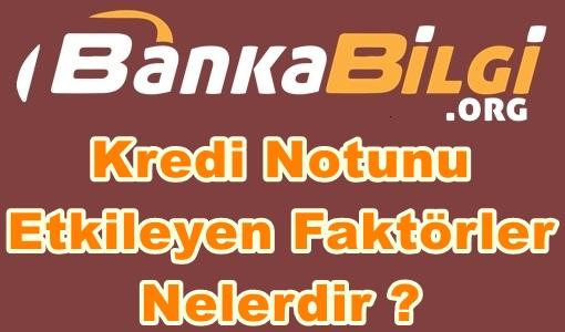 Kredi Notunu Etkileyen Faktörler Nelerdir ? www.bankabilgi.org