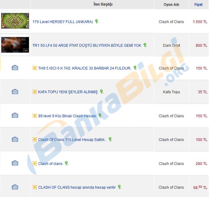 Online oyun hesabı kasıp satarak para kazanma