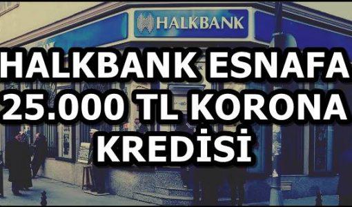 Halkbank Esnafa 25.000 TL Korona Kredisi