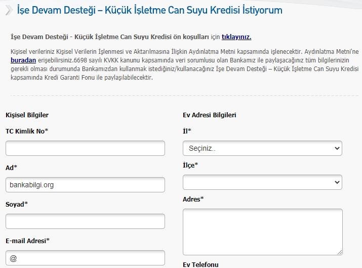 Halkbank Esnafa Korona Kredisi Başvurusu