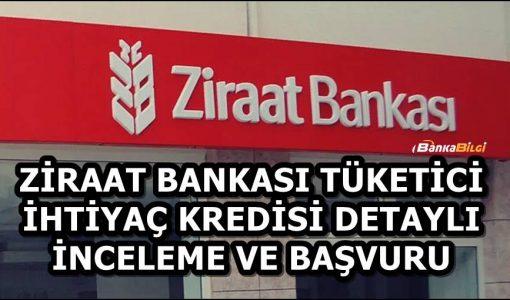 Ziraat Bankası Tüketici Kredisi Başvurusu
